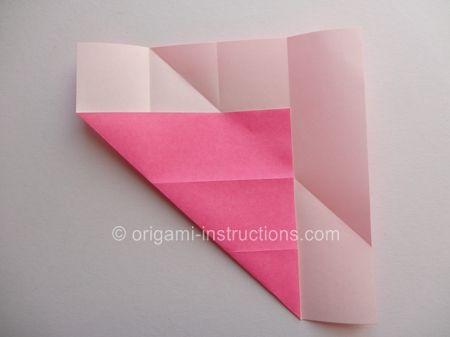 Origami Magie Rose Cube Etape 4