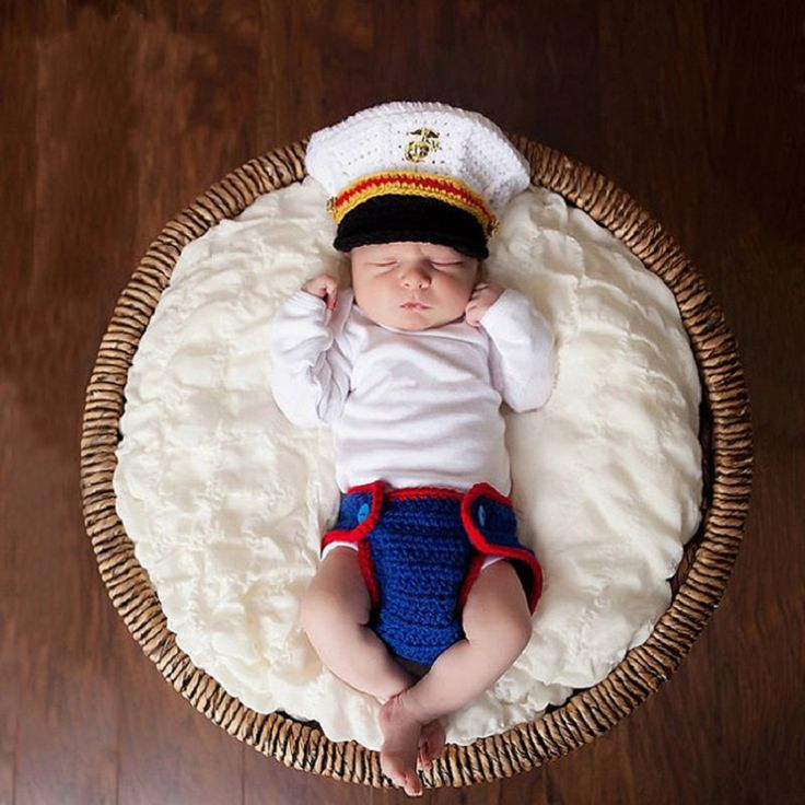 >> Click to Buy << Newborn Baby Photography Prop Infant Fotografia Crochet Cotton Costume Navy Handmade Outfit Button Beanie+Pants Baby Shower Gift #Affiliate