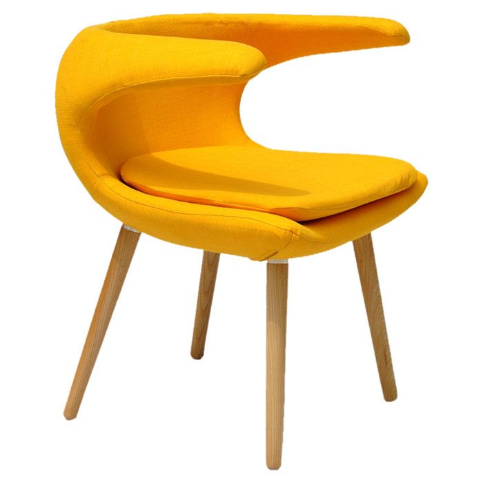 Clipper Accent Chair--replacing the wooden legs with metal would be just the update this design needs