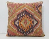 24x24 patio pillows DECOLIC kilim tappeti stuhlkissen orange decorative kelim needlepoint pillows discount pillows 13979 kilim pillow 60x60