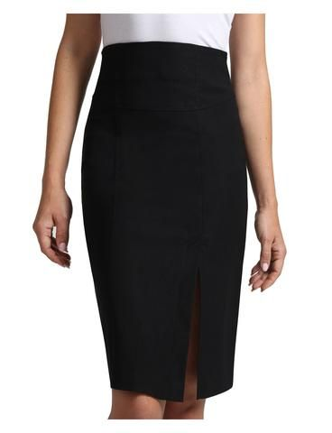 This plus size stretchy knee length pencil skirt with faux leather belt is a classic that will never go out of style. Add this curve-skimming pencil skirt to your work wardrobe for an instant polished look. The clean cut in this super stretchy material will make you look and feel great. Feature 79% Polyester / 17% Rayon / 4% Spandex Soft with maximum stretch for all-day comfort Zip up closure / Features a color matched belt for a polished look / Back slit Hand wash cold Ma...