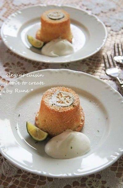 シフォンケーキの素で作るすだちサバラン風 by Runeさん | レシピ ...