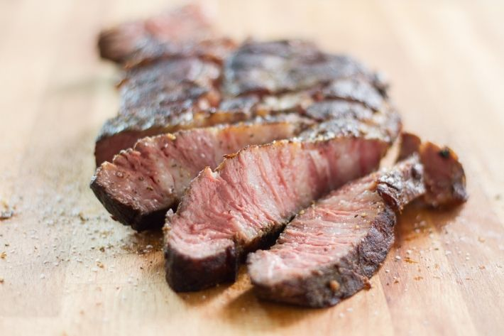 Although a center-cut chuck eye isn't always the most desirable cut of meat, this recipe (with a little salt and pepper and 24 hours in the Anova Sous Vide Precision Cooker) makes this piece of meat taste more like a rib-eye.
