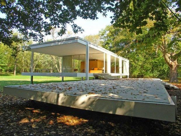 Casas Minimalistas La Casa Farnsworth por Ludwig Mies van der Rohe