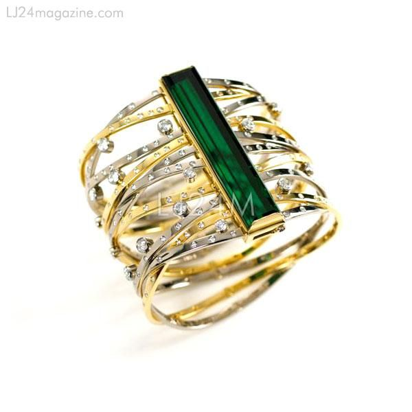 Click Image To Enlarge  Green Tourmaline Ring from Tanagro Gallery