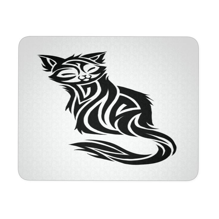 """CAT TATTOO MOUSEPAD. PRODUCT INFORMATION 9.25 """" X 7.75 """" 1/4 """" THICKNESS MADE OF DURABLE NEOPRENE PAD CONSISTS OF A SOFT BACKING WITH A POLYESTER TOP"""