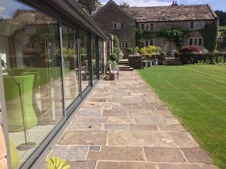 Schuco Sliding Doors for Bespoke Conservatory - Stone House