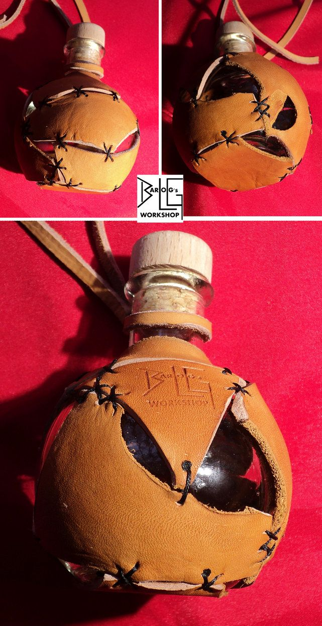 Semi-tribal leather bottle holster by barlogg on DeviantArt