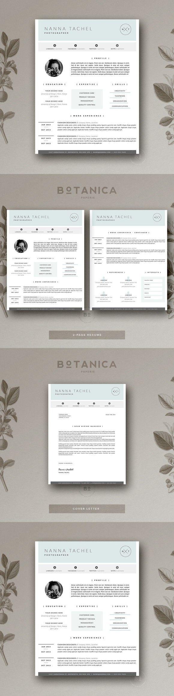 Simple Resume Design CV Template 127