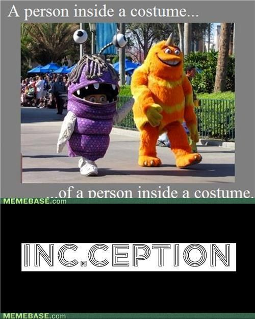 A person inside a costume....of a person inside a costume....
