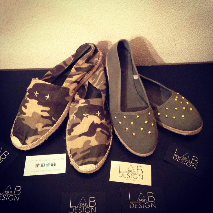Espadrillas MILITARY EDITION for Him and for Her by labdesign.  Follow me on Instagram: @Linda Barnes
