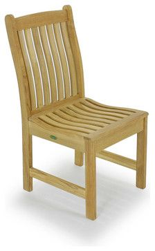 Veranda Teak Dining Chair traditional-outdoor-chairs
