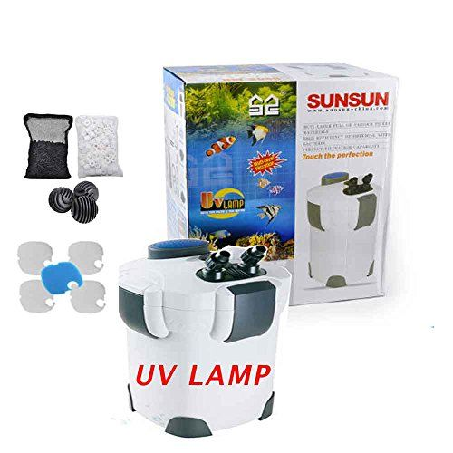 FREE MEDIA 200 Gallon Aquarium Canister Filter UV 9w Sterilizer Fish Tank HW-304B * You can find out more details at the link of the image.