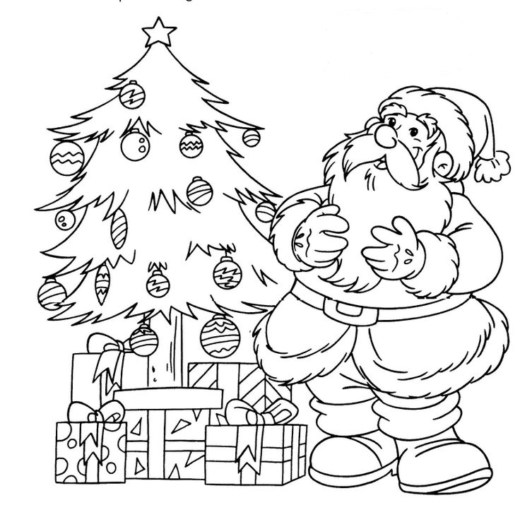371 best painting templates Santa images on Pinterest Printable - new christmas tree xmas coloring pages