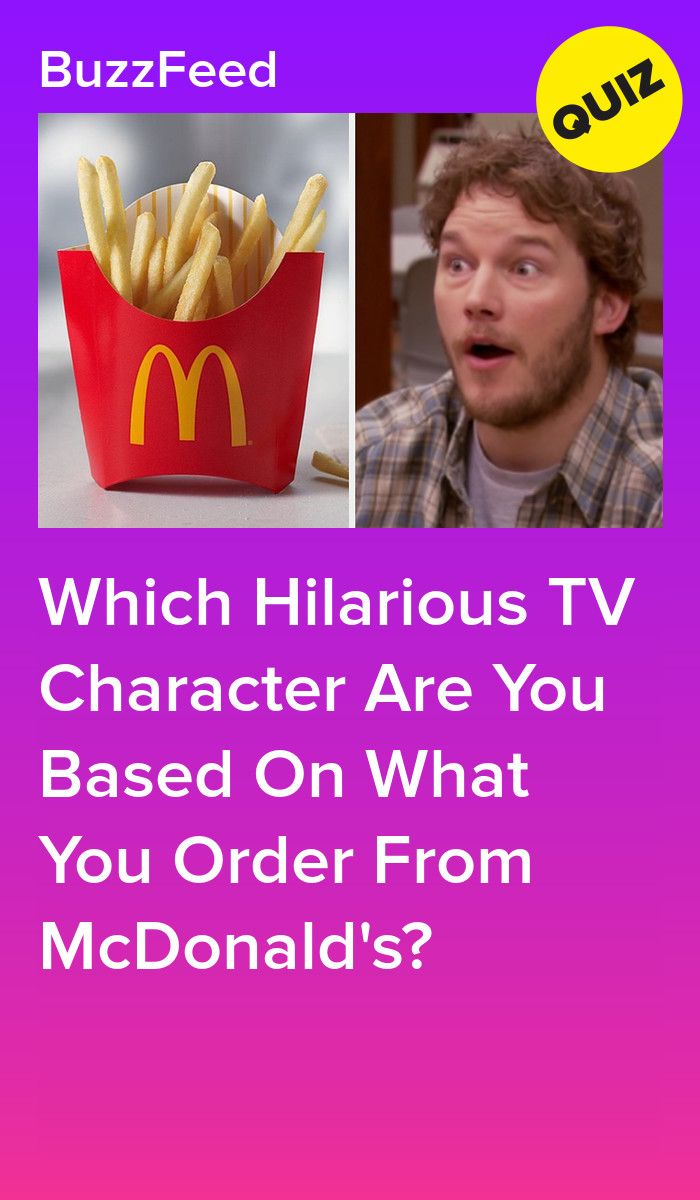 Which Beloved Tv Show Character Are You Based On Your Mcdonald S Order Mcdonalds Quizzes For Fun Fruit And Yogurt Parfait