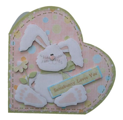 Hoppy Birthday Bunny Greetings Afoot Card Hand Crafted 3D Decoupage with Matching Envelope Hoppy Easter Somebunny Loves You Greeting Choice by TriskelionCards on Etsy