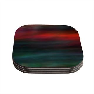 Kess InHouse Robin Dickinson 'Haunted' Red Teal Coasters (Set of 4) | Overstock.com Shopping - The Best Deals on Coasters