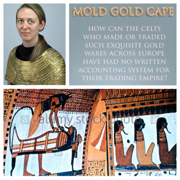 Oct 2015, why is a 'mold gold' style cape of celtic welsh