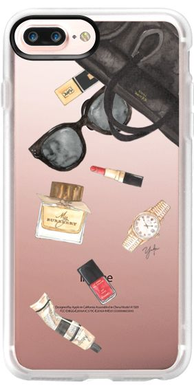 Casetify iPhone 7 Plus Case and iPhone 7 Cases. Other Fashion iPhone Covers - What's In Your Purse by Ylfa Grönvold | Casetify