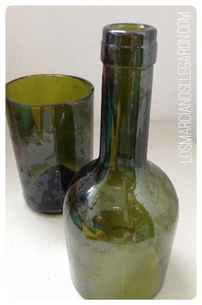 Como cortar botellas de vidrio de forma casera #Reciclaje #Recycling #Vidrio #Glass #DIY