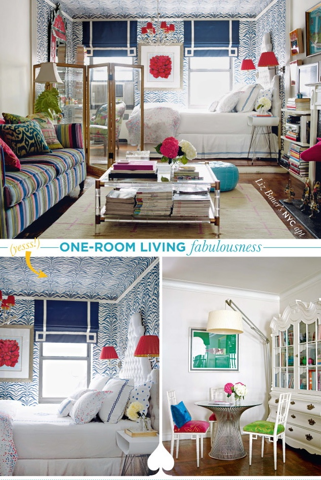 One Room Living Fabulousness! Decor U0026 Furniture Ideas For A Small One Room  Apartment.