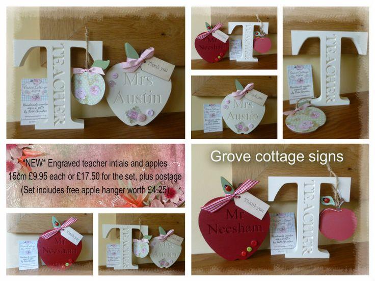 Teacher gift sets www.grovecottagesigns.co.uk #grovecottage #handmade #teachergifts #woodengifts #giftsets #endofterm