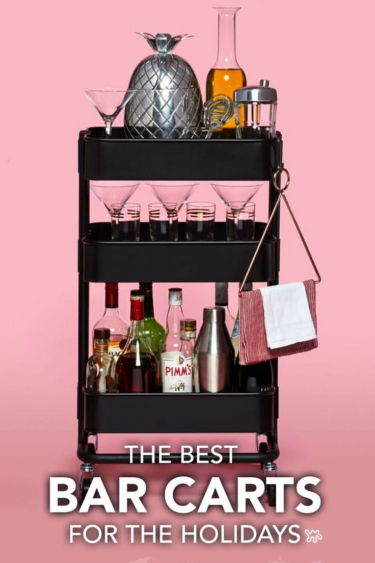 Bar carts like this IKEA option are your entertaining secret weapons: They free up kitchen storage from all those liquor bottles; encourage guests to help themselves; and just look so festive, sparkly, and adult-ish.