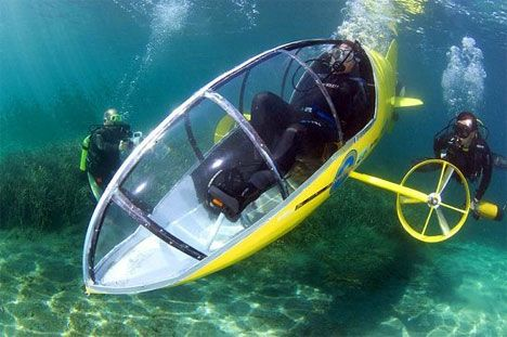 Underwater Workout Machine: Pedal-Powered Submarine | Gadgets, Science & Technology