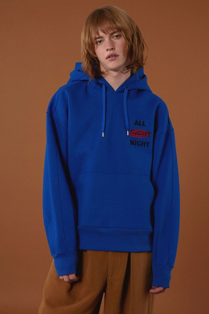 [BLUE] fw15 collection All night hoodie #ader#adererror#blue