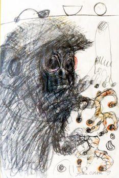 john olsen - nervous-monkey