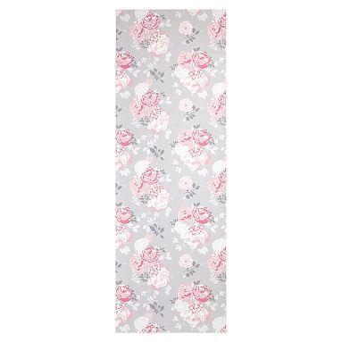 Locker Wallpaper, Floral Gray