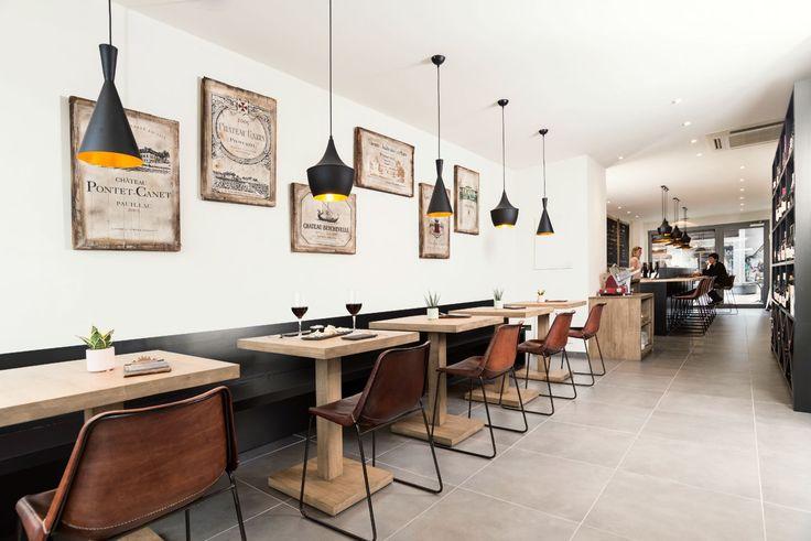 Totaalirichting Wijnbar Swaf - fris, fruitig, krachtig, origineel, natuurlijk - Lederen stoelen cognac Sol y Luna - #Woontheater