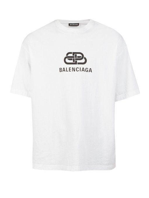 8ce81eb27 BALENCIAGA BB logo-print cotton T-shirt. #balenciaga #cloth ...