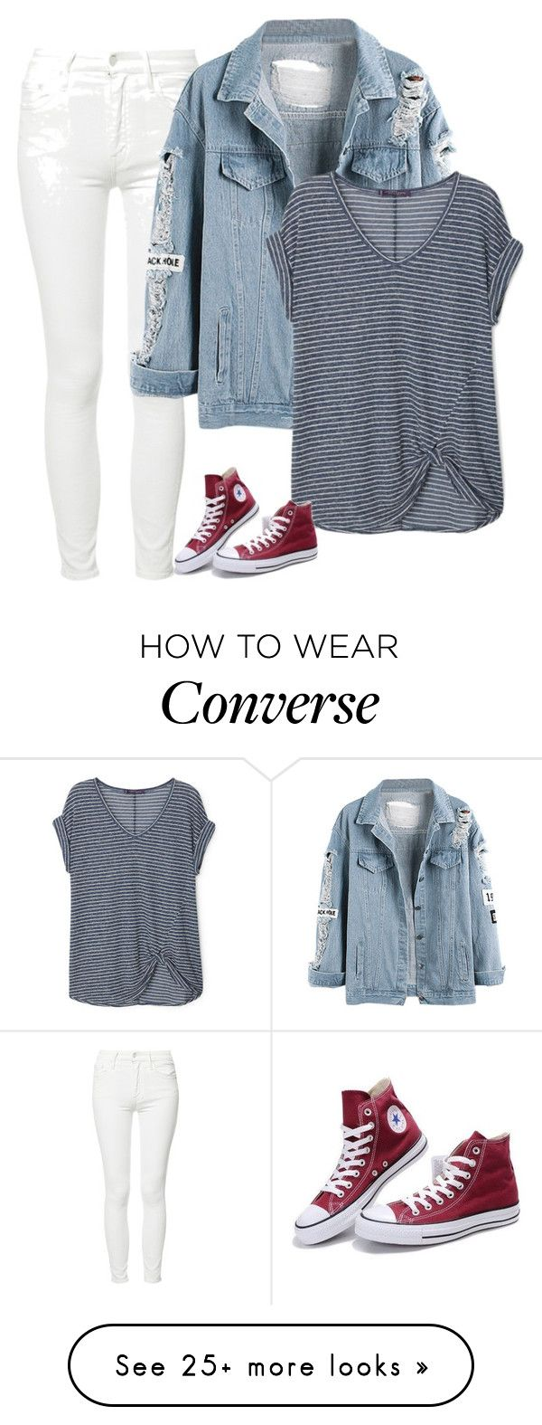 """""""Sin título #5238"""" by xoxominyeol on Polyvore featuring Mother, Violeta by Mango and Converse"""