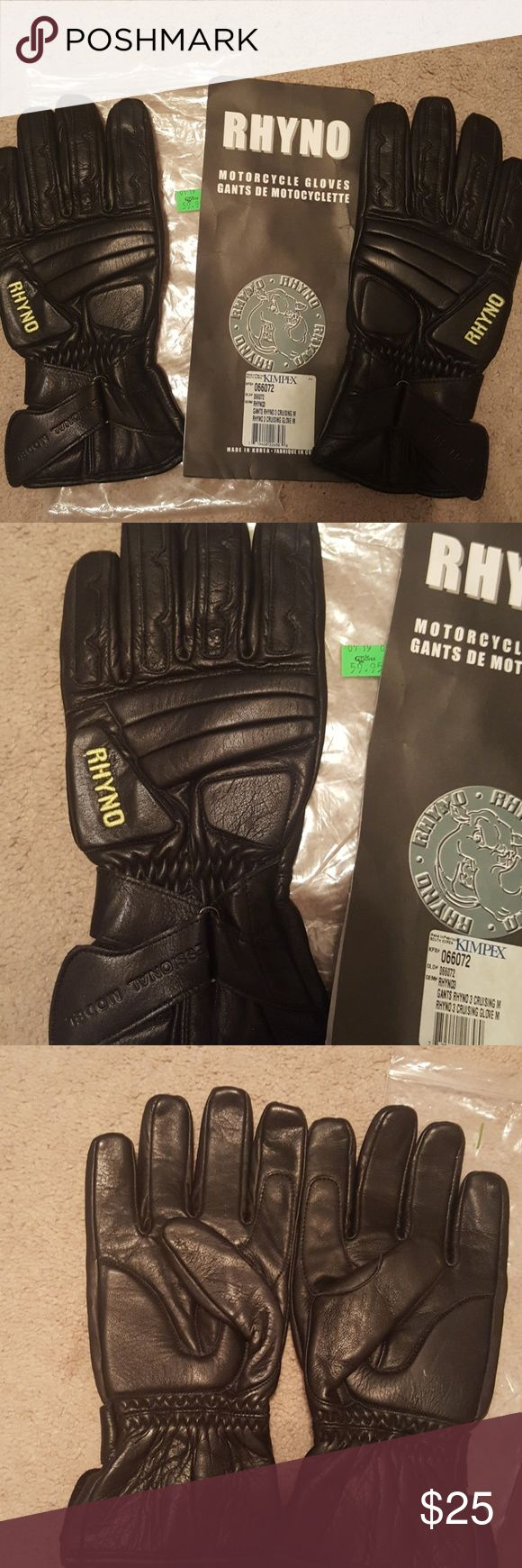 NWT Rhyno motorcycle riding gloves Brand new in Packaging $60 Rhyno cruising motorcycle gloves. rhyno Accessories Gloves