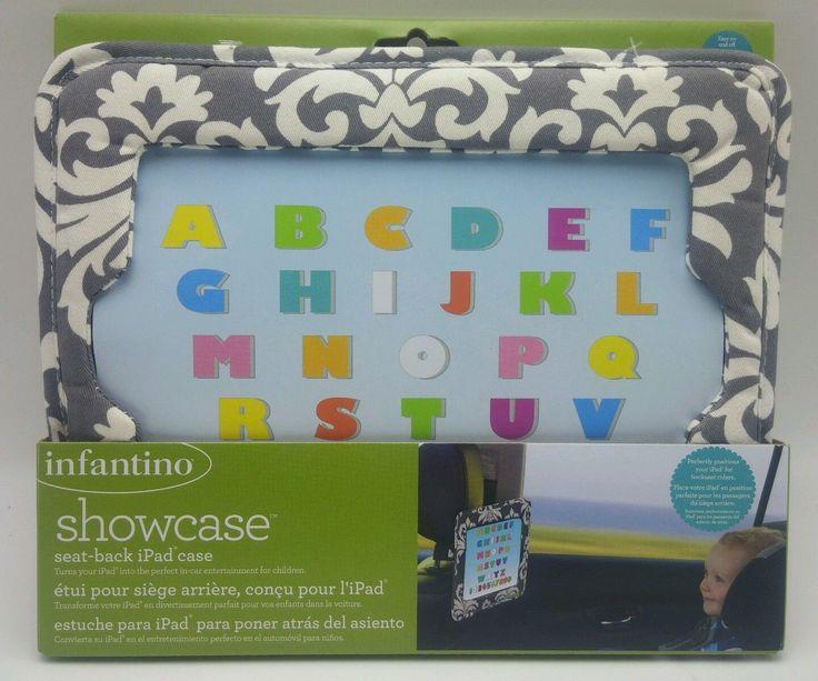 Infantino showcase Seat Back iPad case car holder Gray and White Unisex New