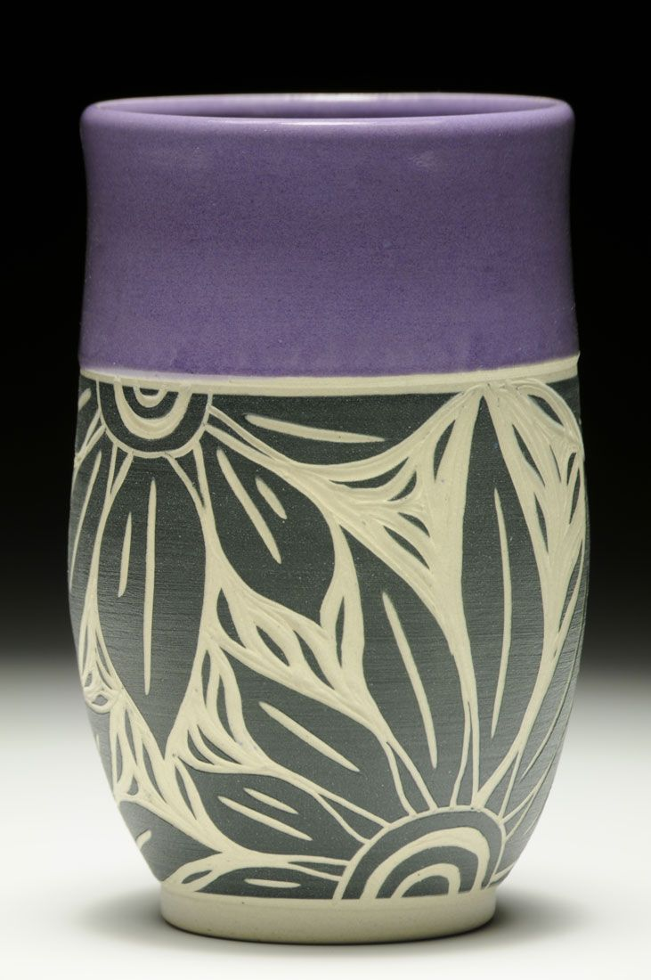 Purple Tumbler Cindy Buehler Ceramic Clayceramic Vasepottery Designspottery
