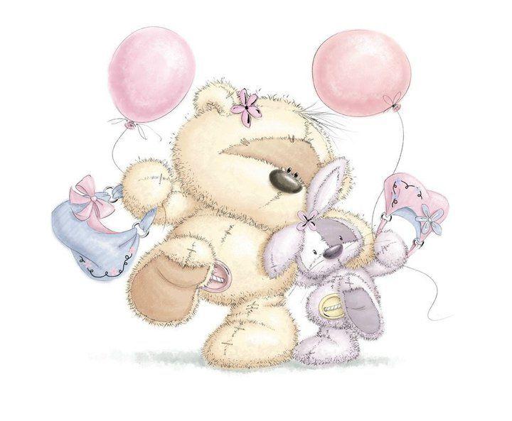 Спасибо поздравление, открытки медвежонок и зайчонок