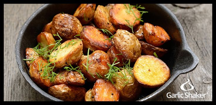 Garlic Roasted Red Potatoes with Ham