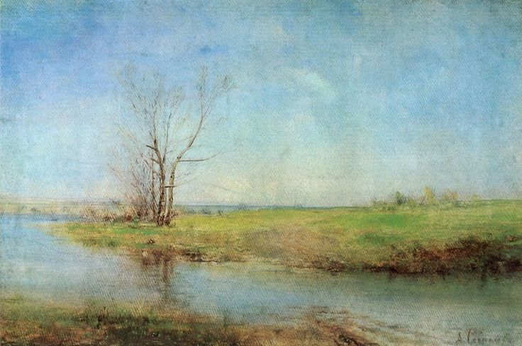 Alexei Savrasov - Spring (oil on canvas, c.1875)