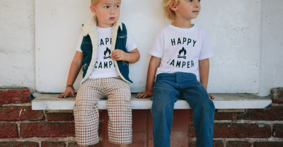 """Celebrate your home team with easy breezy shirts from The Bee & The Fox. Founded by a mum of three in Southern California, this small company has racked up quite the following, mostly thanks to gorgeous photography and simple messages like """"Mama Bird"""" or """"Papa Bear."""""""