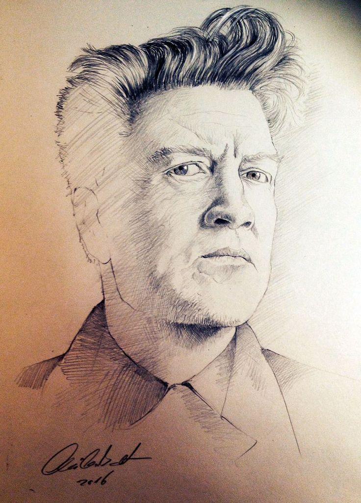 David Lynch portrait - pencil drawing