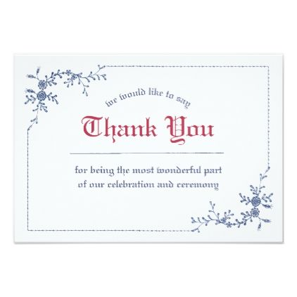 Clical Embroidery Royal Wedding Thank You Card Invitations Custom Unique Diy Personalize Occasions