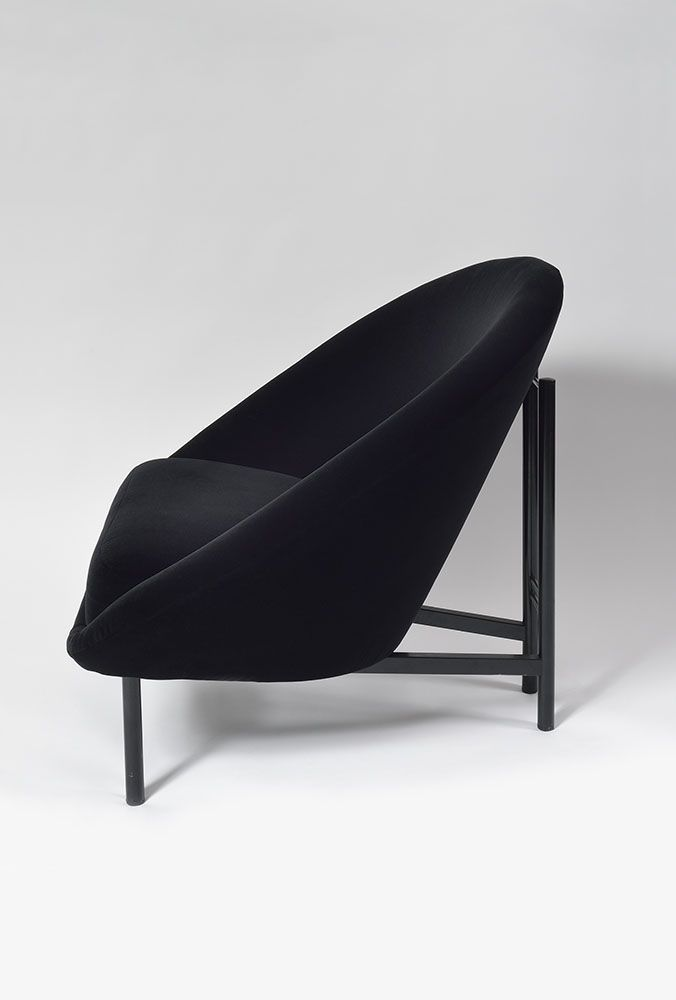 Theo Ruth; Enameled Metal Lounge Chair, 1970.