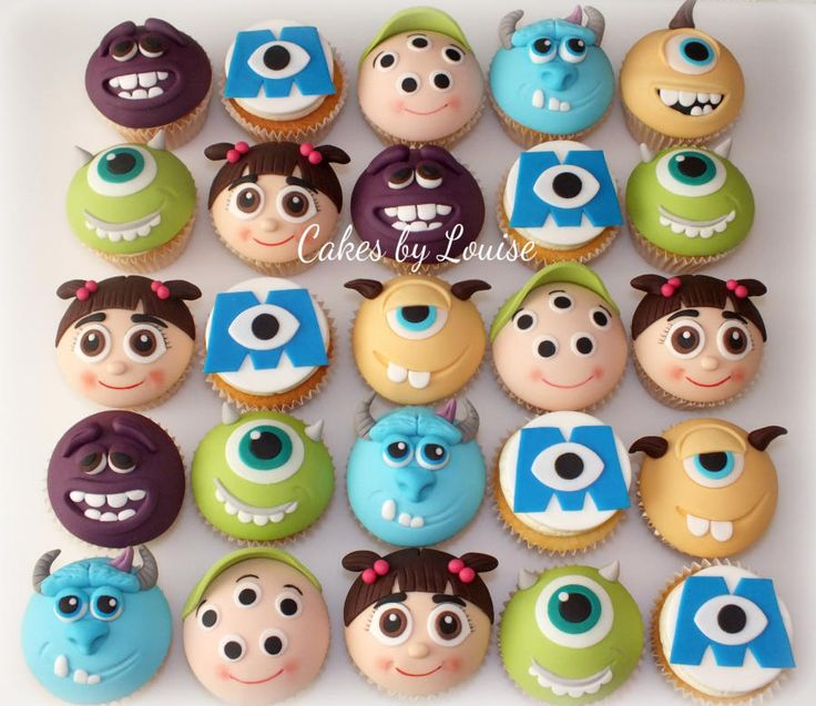 Monster's University cupcakes - Cake by Cakes-by-Louise