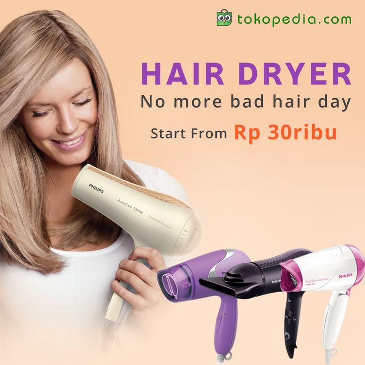 Jangan biarkan rambutmu lembab dan berantakan, segeralah keringkan rambutmu sehabis keramas. Tata yang rapi dengan hairdryer. Ingat selalu, rambut adalah mahkota wanita. Mau punya rambut berkilau dan cantik alami? Klik aja link ini: http://www.tokopedia.com/hot/hair-dryer