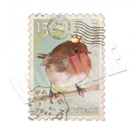 Postzegel roodborstje | Applicaties | VAN IKKE