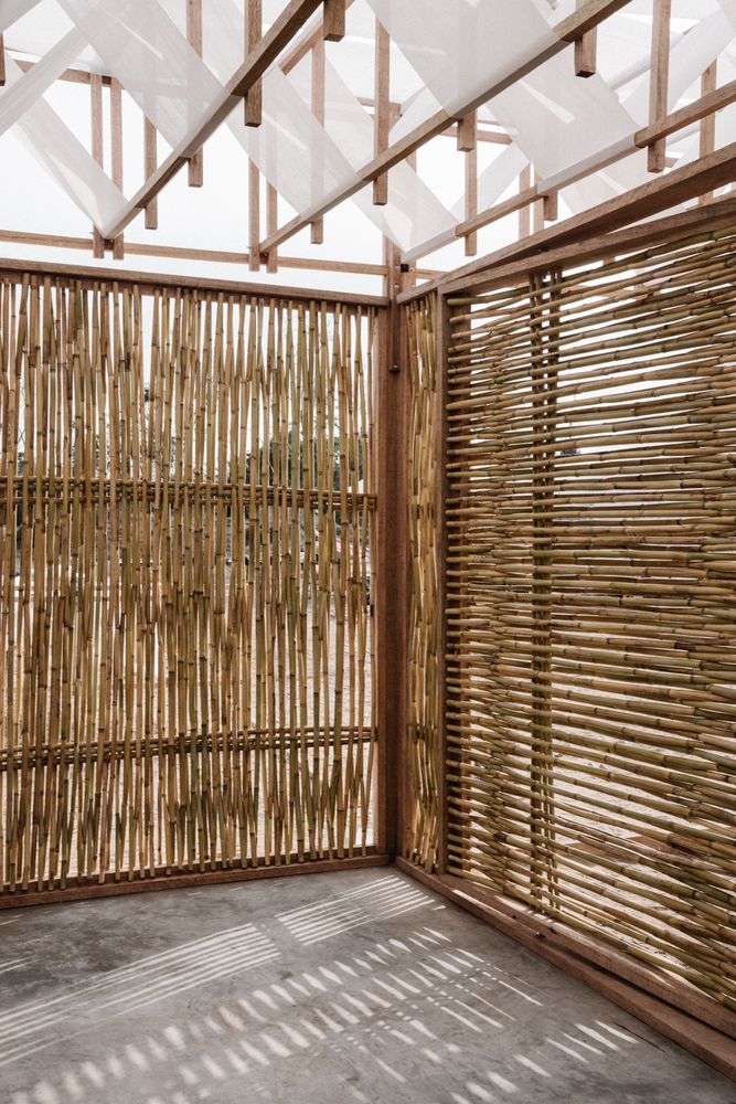Room For Archaeologists Kids Studio Tom Emerson Archaic Bamboo House Design Bamboo Architecture Beach House Interior