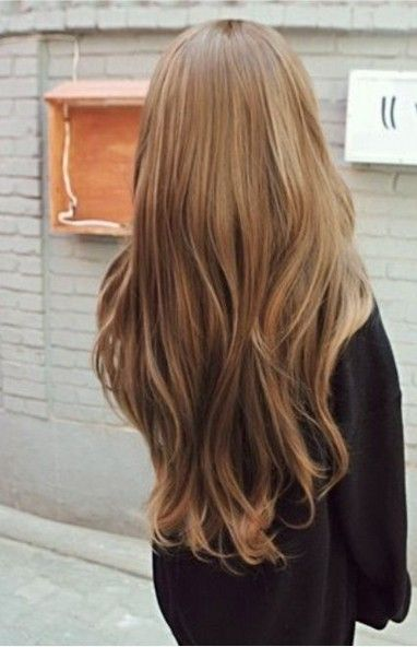 Really Long Brunette Straight Hairstyle