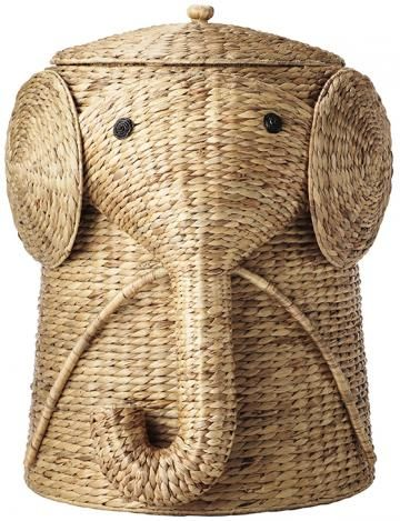 hide the dirty baby clothes in this cute elephant hamper